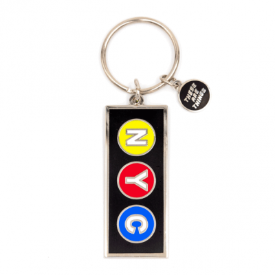 NYC Subway - Enamel Keychain