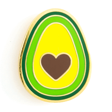 Avocado Heart - Enamel Pin