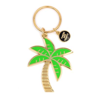 Palm Tree - Enamel Keychain