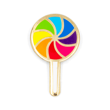 Rainbow Lollipop - Enamel Pin