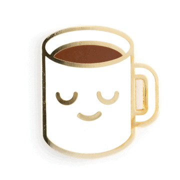 Coffee Mug - Enamel Pin