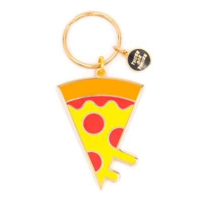 Pizza - Enamel Keychain