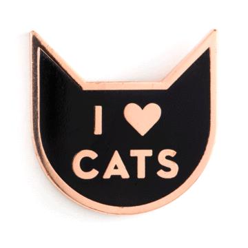 I Heart Cats - Enamel Pin
