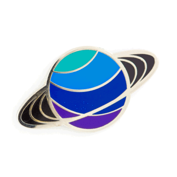 Saturn - Enamel Pin
