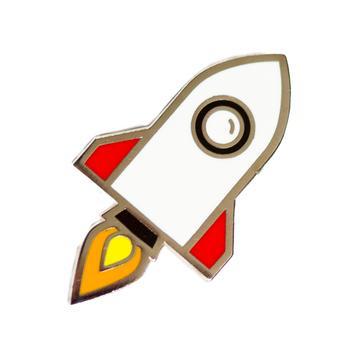 Rocketship - Enamel Pin
