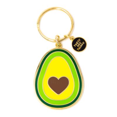 Avocado Heart - Enamel Keychain