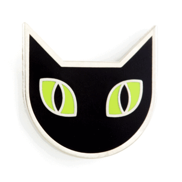 Black Cat - Enamel Pin