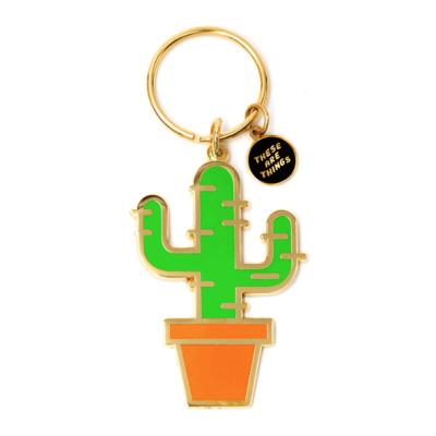 Cactus - Enamel Keychain