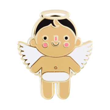 Angel Baby - Medium - Enamel