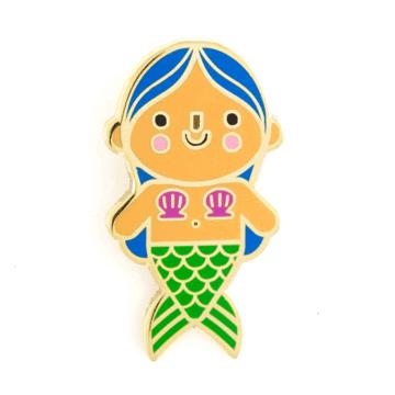 Mermaid Baby - Blue Hair - Enamel Pin