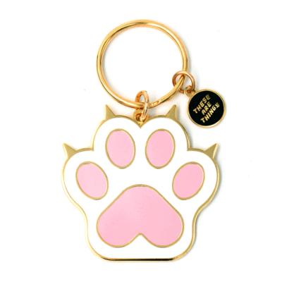Cat Paw - Enamel Keychain