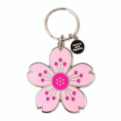 Cherry Blossom - Enamel Keychain