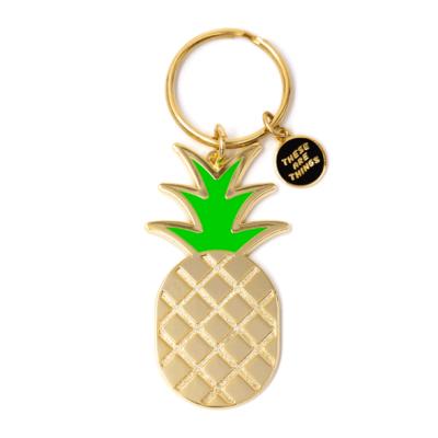 Pineapple - Enamel Keychain