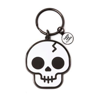 Skull - Enamel Keychain