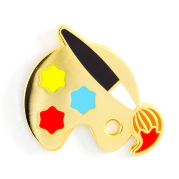 Paint Palette - Enamel Pin