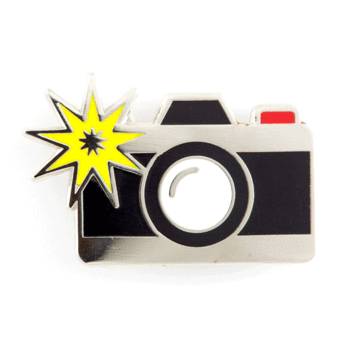 Camera Flesh - Enamel Pin