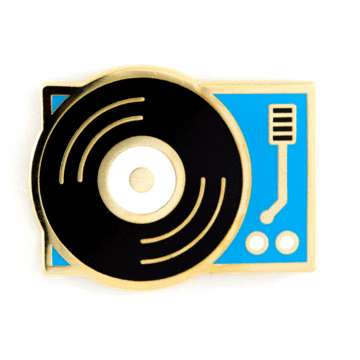Record Player - Enamel Pin