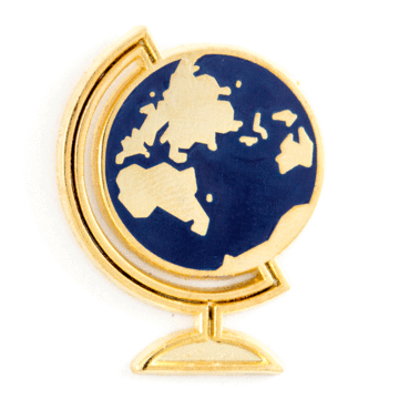 Desk Globe - Enamel Pin