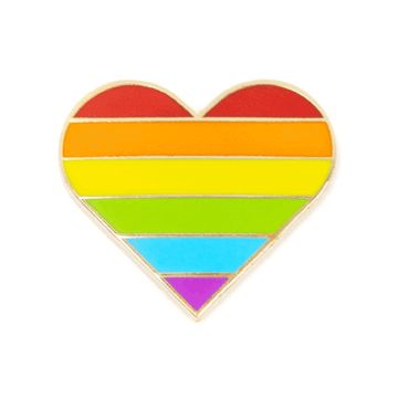 Pride Heart - Enamel Pin