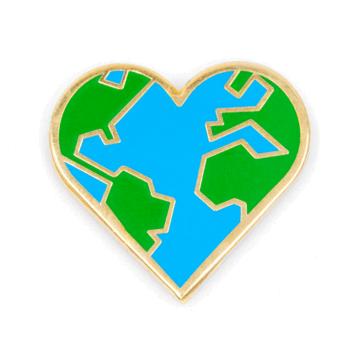 Heart Earth - Enamel Pin