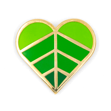Heart Leaf - Enamel Pin