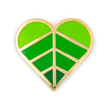 Heart Leaf - Enamel Pin