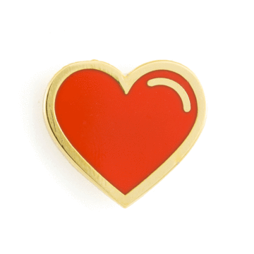 Red Heart - Enamel Pin
