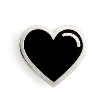 Black Heart - Enamel Pin