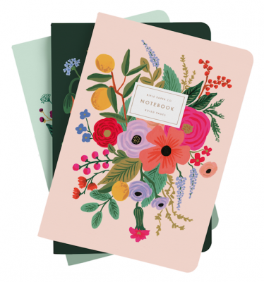 Garden Party Stitched Notebooks Rifle Paper