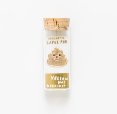 Gold Poo Emoji Lapel Pin - VE 4