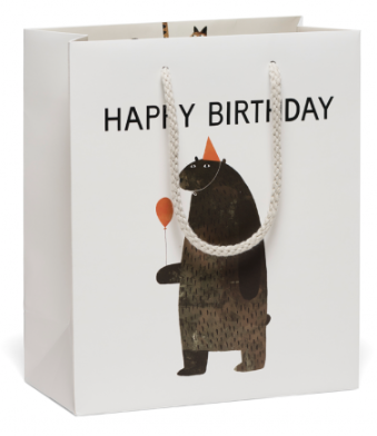 Party Bear Bag - Red Cap Cards