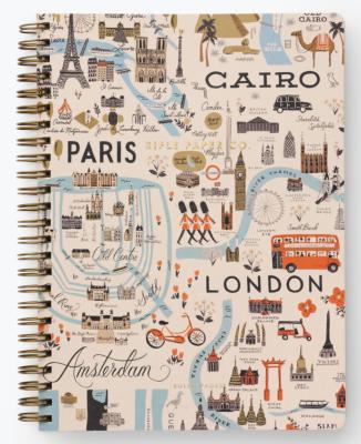 Bon Voyage Spiral Notebook Rifle Paper