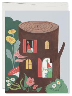 Happy Birthday Log Card French Fold