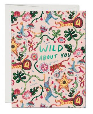 Wild Animals Card Red Cap Cards