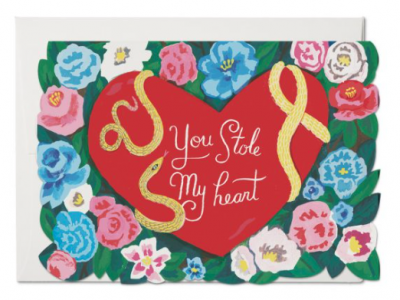 Stole My Heart Card Red Cap