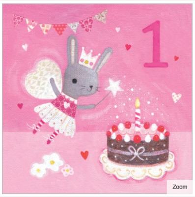 Fairy Bunny Card - Age 1 Girl