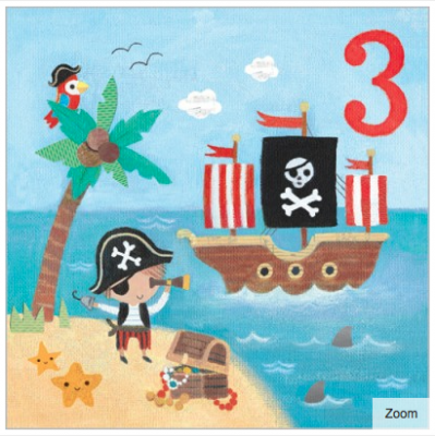 Ahoy There Card - Age 3 Boy