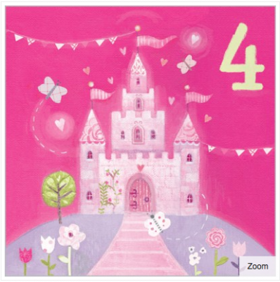 Princess Castle Card - Age 4 Girl