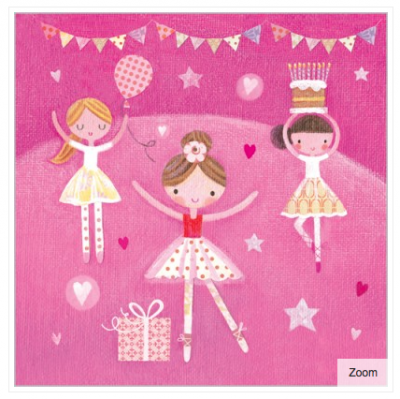 Ballerina Party Card - VE 6