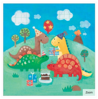 Dinosaur s Party Card - VE 6