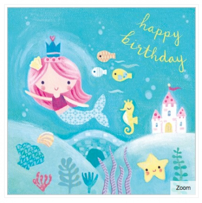 Under the Sea Card - VE 6