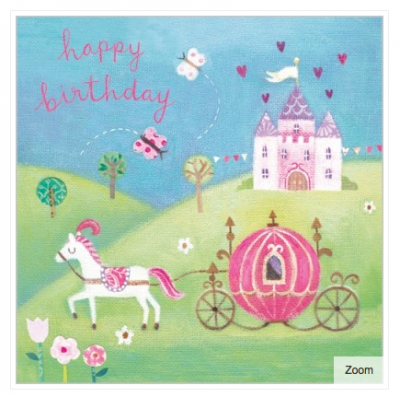 Cinderella Carriage Card - VE 6