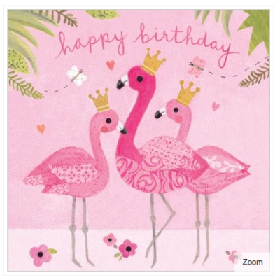 Flamingo Fun Card - VE 6
