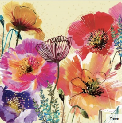Oriental Poppy Card - Greeting Card