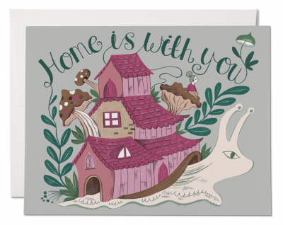 Snail Home Card Red Cap Cards