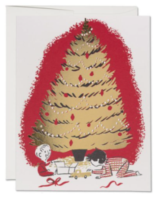 Under The Tree Card - Red Cap Cards