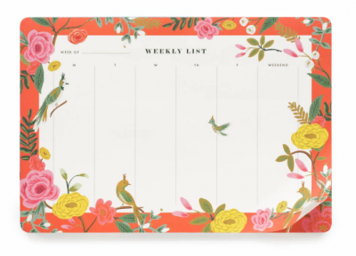 Shanghai Garden Weekly Desk Pad - VE 6