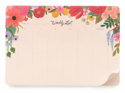 Garden Party Weekly Desk Pad Wochenplaner