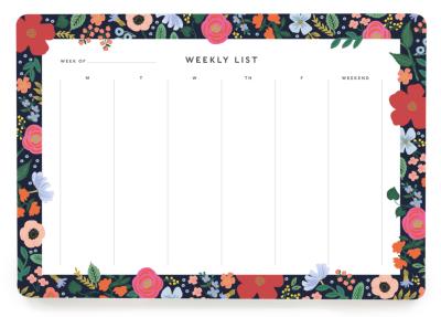 Wild Rose Weekly Desk Pad - Wochenplaner