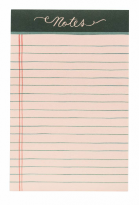 Rose Lined Notepad Rifle Paper Co